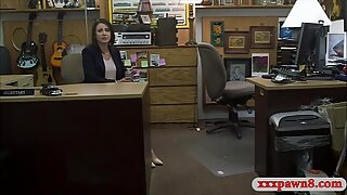 Amateur housewife slammed by pawn dude at the pawnshop